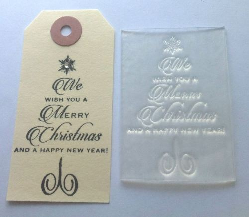Christmas New Year Tree script stamp