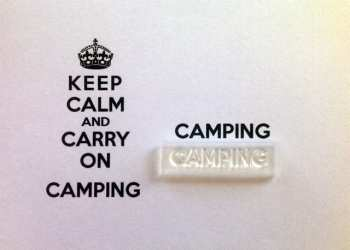 Camping stamp for Keep Calm and Carry On