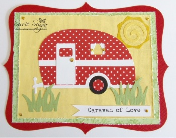 Caravan of Love, typewriter font stamp