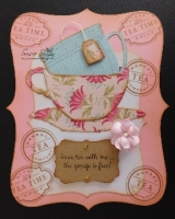 Have tea with me, clear stamp