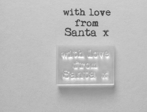 Love from Santa, little typewriter stamp