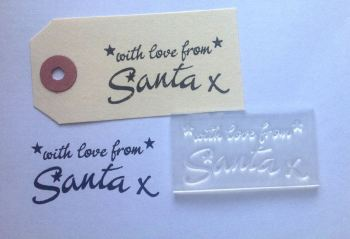 With love from Santa, stamp for Christmas gift tags