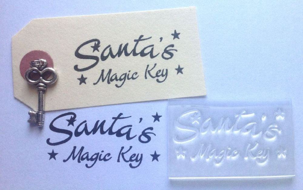 39 santa 39 s magic key 39 clear stamp decorated with stars for for Santa s magic key craft