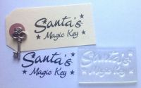 Santa's Magic Key, clear Christmas stamp