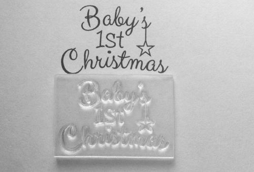 Baby's 1st Christmas 4.5cm