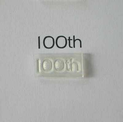 100th, stamp