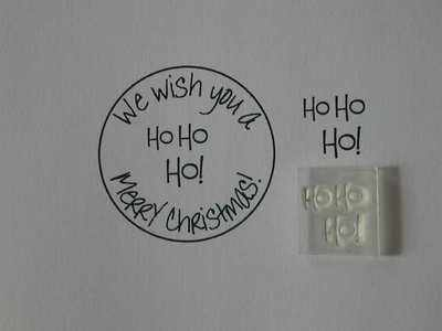 Ho Ho Ho! Little Words, Christmas stamp