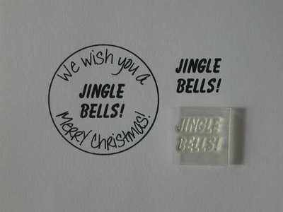 Jingle Bells! Little Words, Christmas stamp