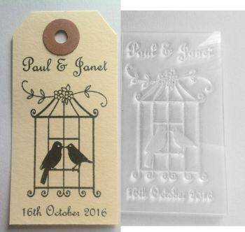 Personalised Birdcage stamp