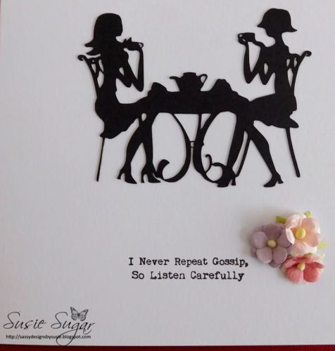 I never repeat gossip, clear typewriter stamp