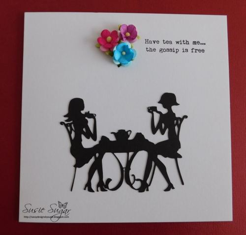Have tea with me, clear typewriter stamp