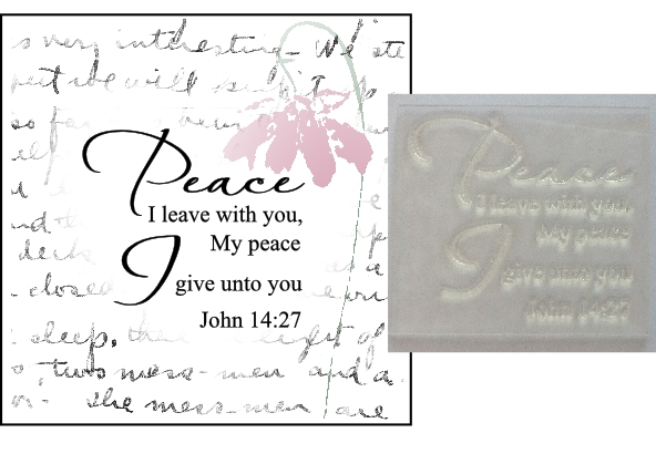 Christian Bible Verse Stamp Peace I Leave With You John 14 27