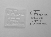 Fear not, Isaiah 41:10, Bible stamp