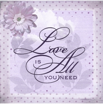 Love is all you need, script stamp