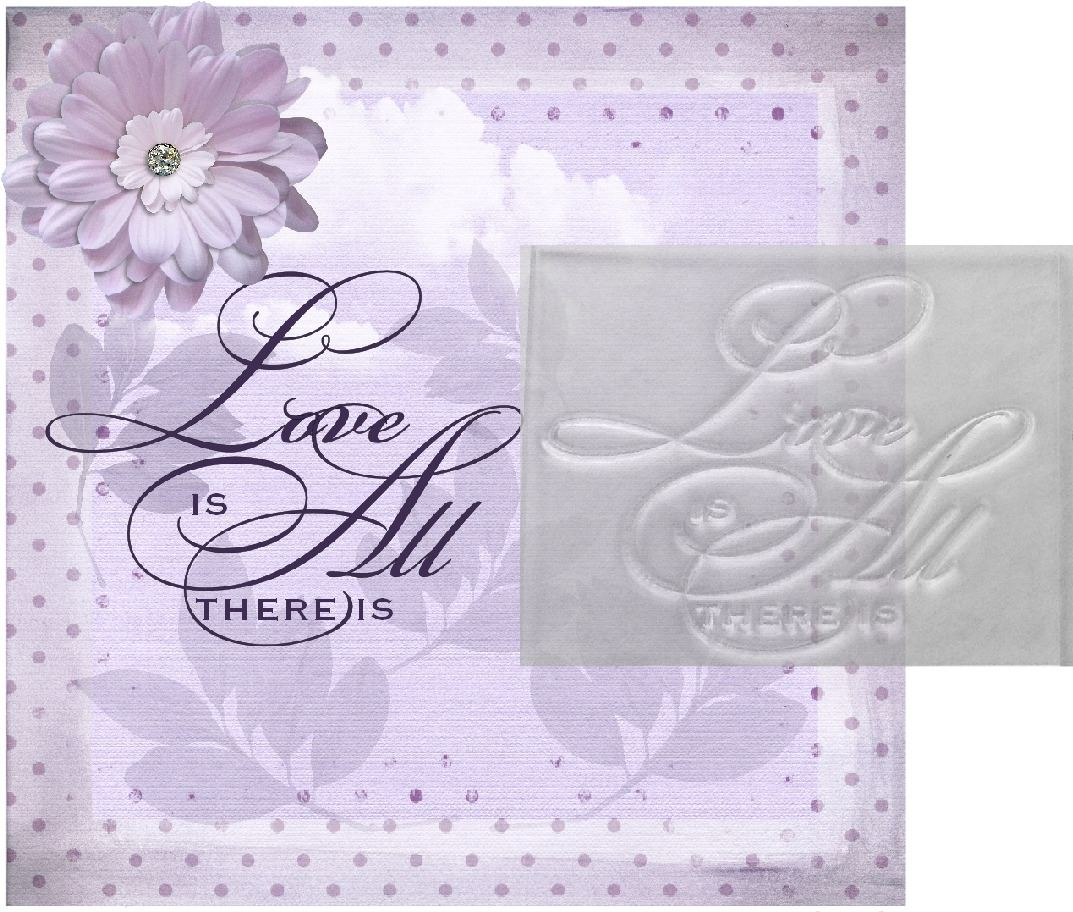 Love Is All There Is Stamp Clear Script Wedding Stamp