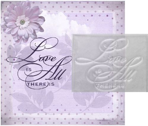 Love is all there is, script stamp