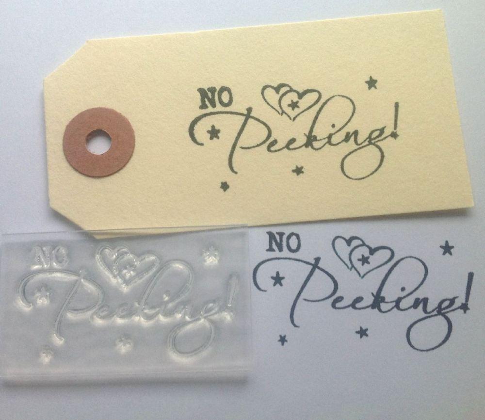 No Peeking! clear Christmas stamp