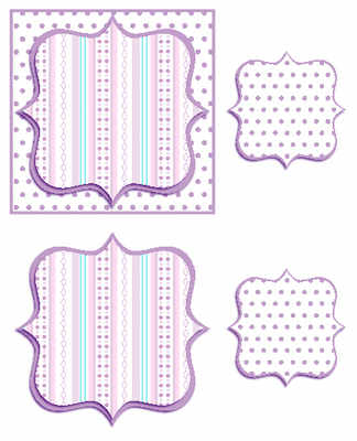 Lilac Bracket frame topper digital card making kit