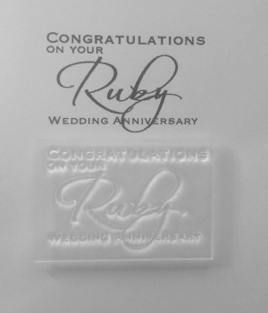 Congratulations on your Ruby Anniversary, stamp