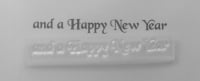 and a Happy New Year stamp, vintage style