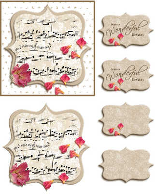 Music & Roses Topper Digi Kit