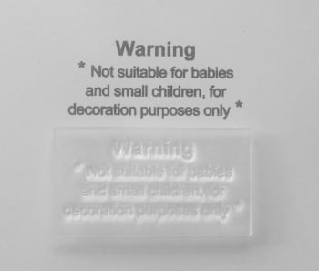 Cardmaker's & Craft stamp, Warning