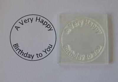 A Very Happy Birthday to You, circle stamp