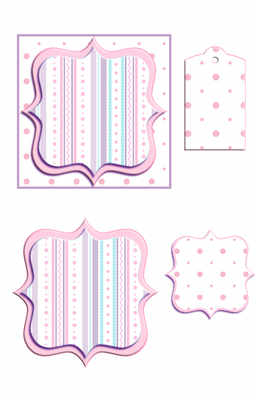 Bracket Frame Topper Digi Kit, pink