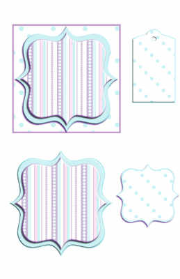 Bracket Frame Topper Digi Kit, blue