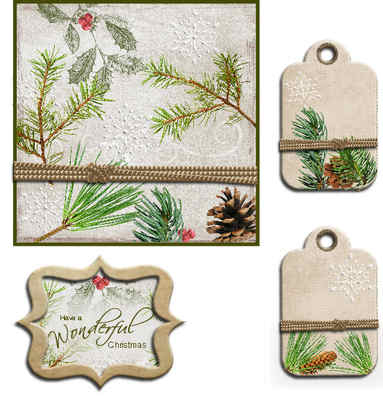 Christmas Fir Topper Digi Kit