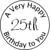 Circle stamp 25th Birthday