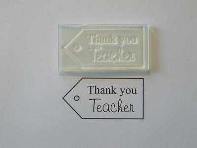 Tag stamp, Thank you Teacher