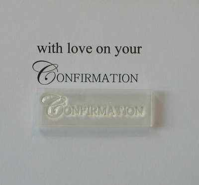 Confirmation stamp, upper case small