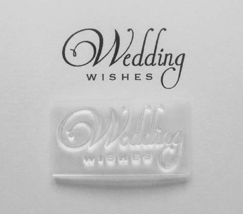 Wedding Wishes, 2 line stamp