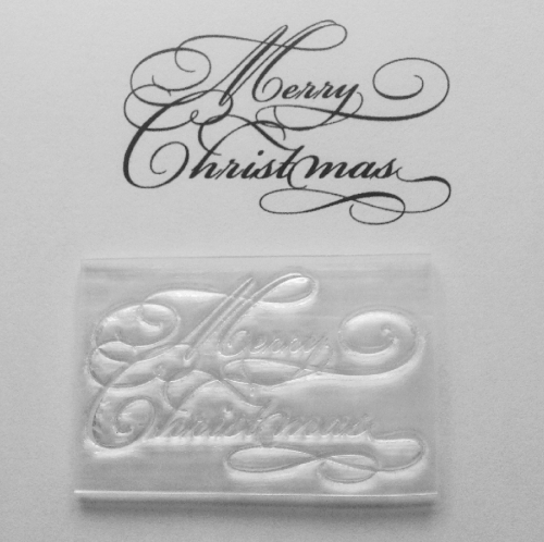 Swirly Merry Christmas stamp