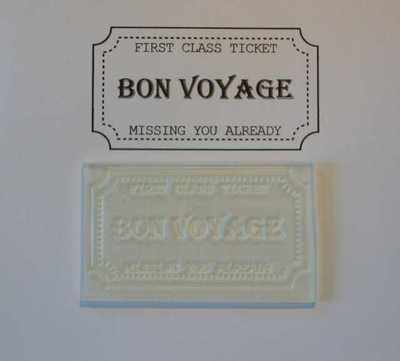 Ticket stamp, Bon Voyage
