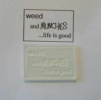 Weed and Munchies, framed stamp