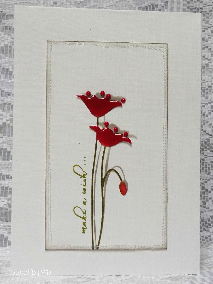 Viv poppy card