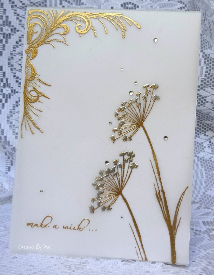 Viv, Make a Wish embossed card