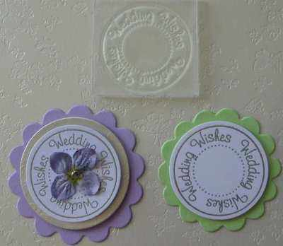 Wedding Wishes, circle stamp
