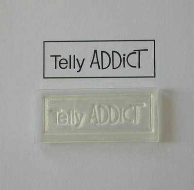 Telly Addict, rubber stamp