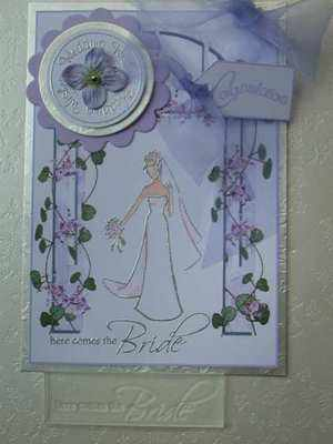 Here comes the Bride, wedding stamp