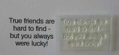 True Friends, Lucky You! little verse stamp