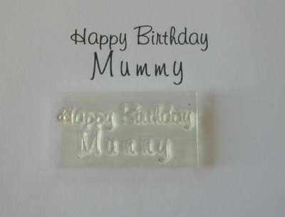 Happy Birthday Mummy, stamp