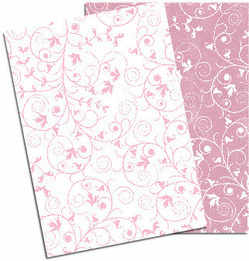pink and white swirly papers