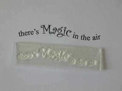 There's Magic in the air, wavy stamp