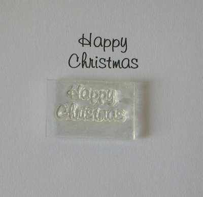 Happy Christmas, Little Words stamp