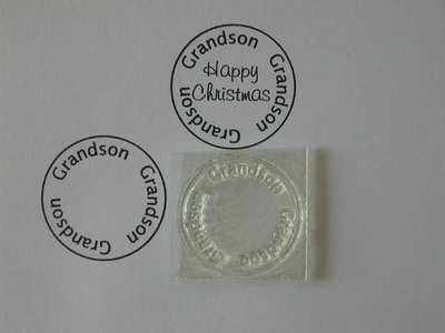 Grandson, circle stamp