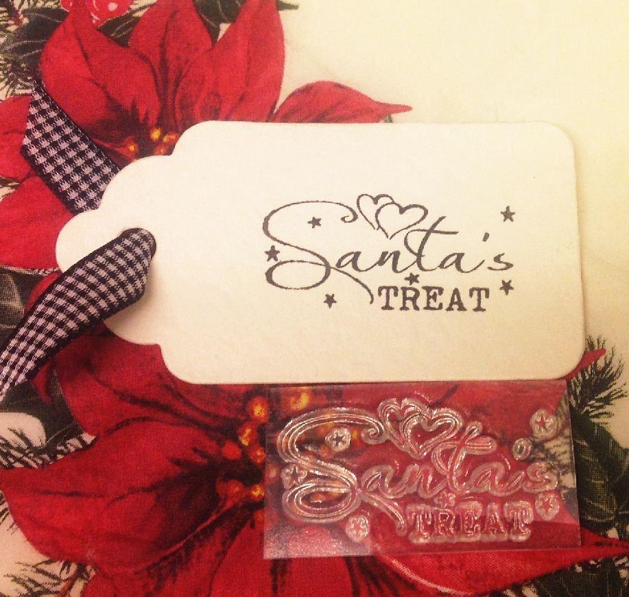 Santa's Treat clear Christmas stamp