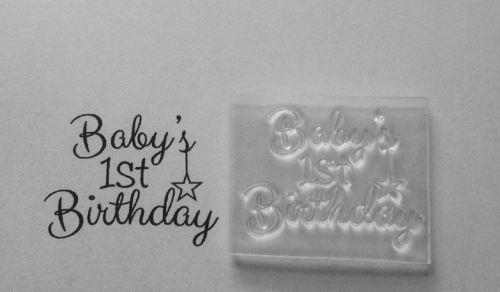 Baby's 1st Birthday 4.2cm